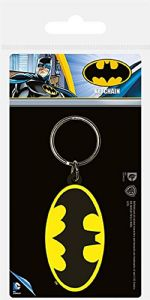 Batman logo PVC flexible keyring (py)